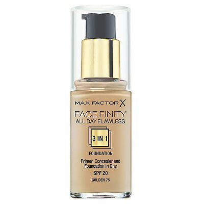 Max Factor Facefinity All Day Flawless 3 in 1 Foundation - 75 Golden