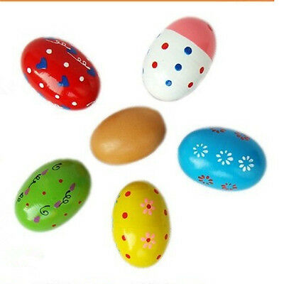 Colorful Wooden Egg Children Toy Music Shaker Instrument Percussion Rattle HOT