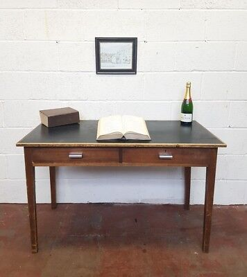 Teak Table Vintage Desk Mid-Century Retro Console Study FREE MANCHESTER DELIVERY