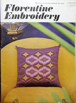 Vintage retro 1960s embroidery leaflet - Florentine Embroidery 12 designs