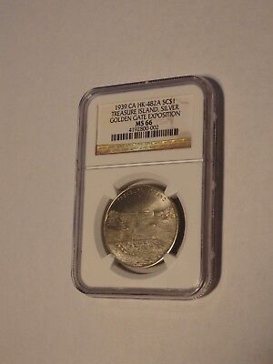 Golden Gate Expo. HK-482A Superb Rare Silver issue! NGC MS66! Top Pop!