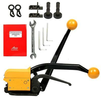 """A333 MANUAL STRAPPING TOOL SEALLESS COMBO TOOLS For 3/4""""-5/8""""-1/2"""" STEEL STRAPS"""