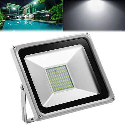 50W SMD LED Floodlight Cool White Outdoor Garden Seucrity Flood Light 220V IP65