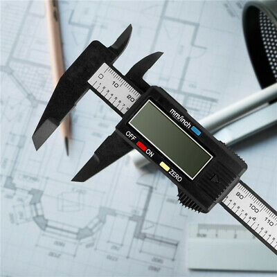 "New Digital Electronic Gauge Plastic Vernier Caliper 150mm 6"" Micrometer"
