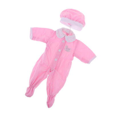 Pink Pajamas Jumpsuits fits 18inch American Girl Doll Clothes Outfit Accs