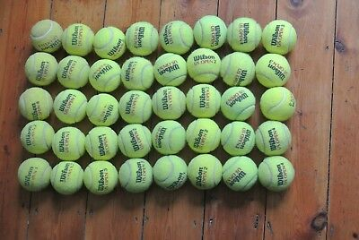 40 Used Tennis Balls - For Childrens Ball Games / Dog Toy