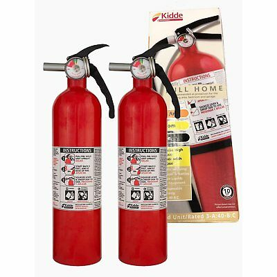 2.5 LB HOME ABC FIRE EXTINGUISHER Car Dry Chemical Electrical Kitchen Auto 2-PK
