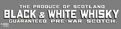 QR's Advertising HO Scale 'C' Wagon Decals BLACK & WHITE WHISKY