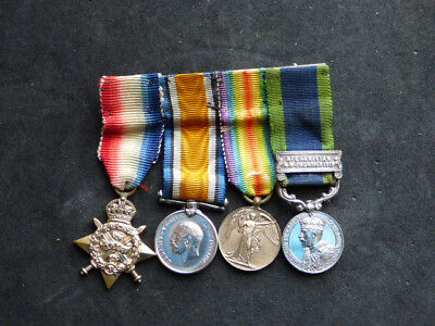 Miniature Medals WW1 Mounted Group