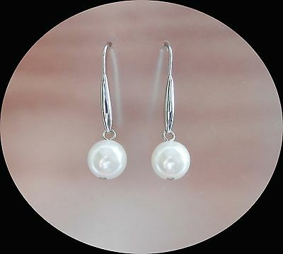 Fashion Jewelry White Pearl Dangle Earrings Perfect For Any Events E5046