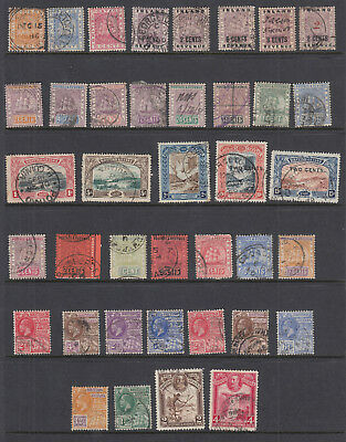 Good Selection of Early British Guiana Stamps (39) used