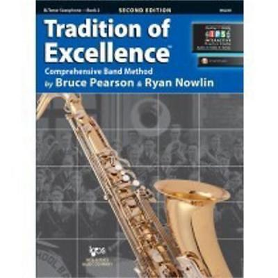 Tradition Of Excellence-Tenor Saxophone Music Book/Internet Level 2-Sax-New Sale