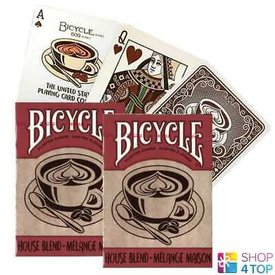 2 Decks Bicycle House Blend Coffee Playing Cards Deck Poker Magic Tricks New