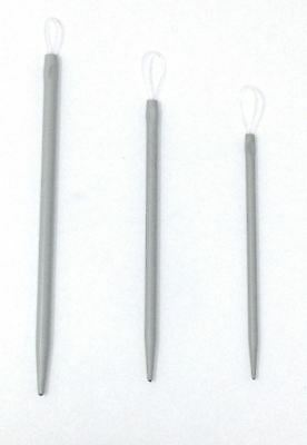 Knitting Sewing Set of 3 Wool Needles Aluminium Flexible Loop