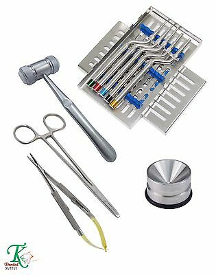 Dental Oral Chirurgie Osteotome Concave Kit Amalgame Implant Kit Récipient Os TK