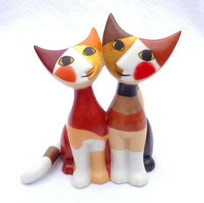 GOEBEL ROSINA WACHTMEISTER. Double Cat Figure. Hand Signed. MINT CONDITION !!!!!