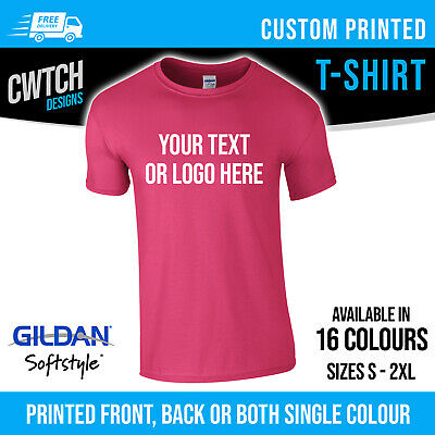 Personalised Custom Printed T Shirts Gildan T-Shirt Men Women Stag Hen Tee New