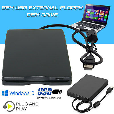 Portable USB Floppy Disk Drive for Laptop PC Win Mac 3.5″ External 1.44MB