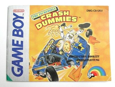 The Incredible Crash Dummies Instruction Manual Only (Gameboy, 1992)
