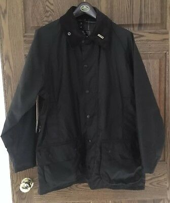 Barbour Classic Beaufort Mens 42 Green Jacket, Hood and Liner New With Tags