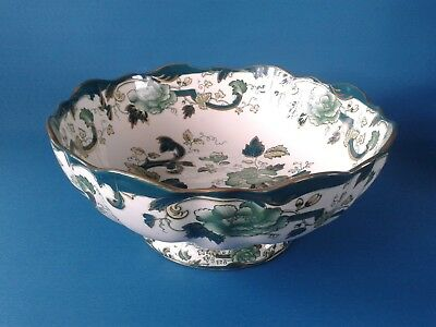 Masons Chartreuse Footed Fruit Bowl