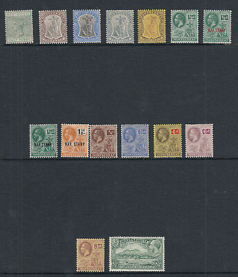 Montserrat stamp selection - 15 stamps - mounted mint