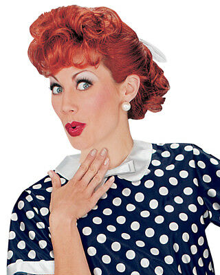 Adult's I Love Lucy Lucille Ball Curly Red Classic Lucy Wig Costume Accessory