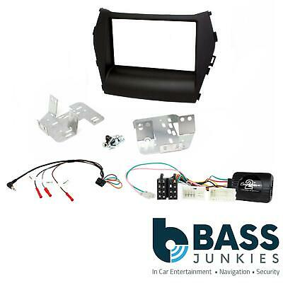 Hyundai Santa-Fe 2013 On Stereo Double Din Fascia Steering Wheel Interface Kit