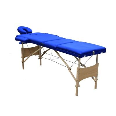 ALEKO Multi-Position 3 Section Folding Portable Massage Table 82 Inches Blue