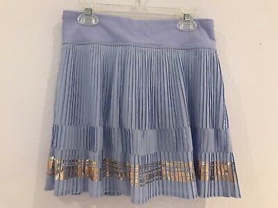 Ivivva Wide Stride Pleated Tennis Skirt Lavender And Rose Gold Size 14
