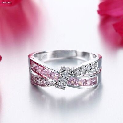 1155495 Women's 925 Sterling Silver Plated Crystal Rings Fashion Wedding Party