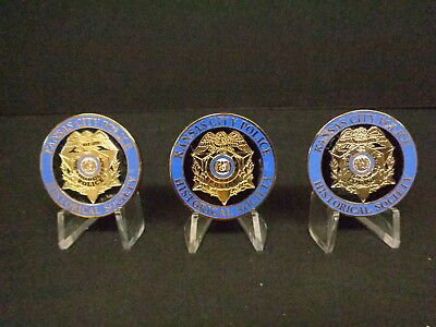 Kansas City (Mo) Police Department Historical Society Challenge Coin Set Of 3