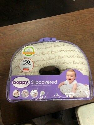 NEW - Bobby slip-covered feeding and infant Support Pillow 0- 12 months