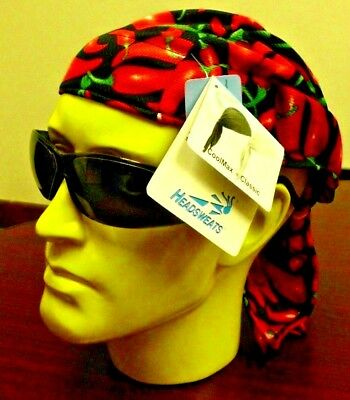 CHILI PEPPERS HEADSWEATS COOLMAX SUPER DUTY PERSPIRATION TECH CYCLING CAP