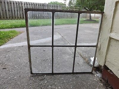 Vintage Leaded Stained Glass Window  Clear Minimalist Antique