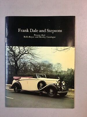 VTG 1970's  Frank Dale & Stepsons ROLLS ROYCE & BENTLEY CARS CATALOGUE SALES