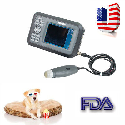 VET Veterinary Portable Ultrasound Scanner Machine Cow/Horse/Animal + Rectal USA