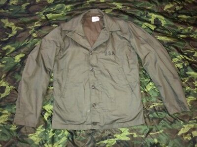 Original WW2 US NAVY N-4 DECK JACKET, Near Mint, sz 38, USN M41 Jacket