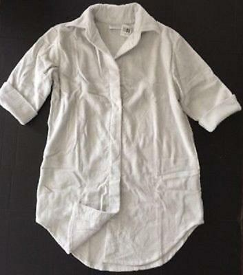 Waterworks Studio Terry Cloth Bath Shirt Gray One Size Fits Most NEW