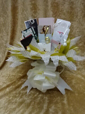 Sweet & Flower Style Perfume Bouquet Vial Samples Birthday Gift Bows Hamper Box
