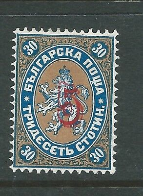 BULGARIA 1884 5 ON 30st OVERPRINT MINT HINGED SEE BOTH SCANS FOR CONDITION