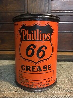 VINTAGE PHILLIPS 66  GREASE oil can CAN