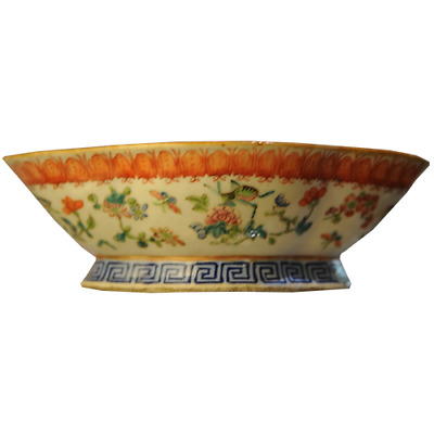 Famile Rose Footed Bowl