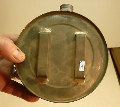 """#3 Miners Belt Canteen To Carry Water Or Fuel Galvanized Steel Excellent 5 1/4"""""""