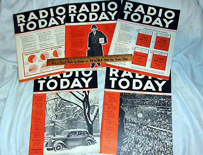 Radio Today (5) Issues Oct Nov Dec 1935 & Feb March 1936 Nice! L@@K!