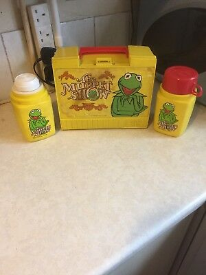 Vintage The Muppet Show Thermos Set Box And Flasks