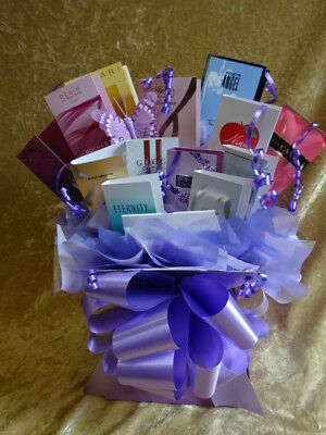 Sweet & Flower Style Perfumes Bouquet Vials Gift Bows Hamper Box Lilac Butterfly