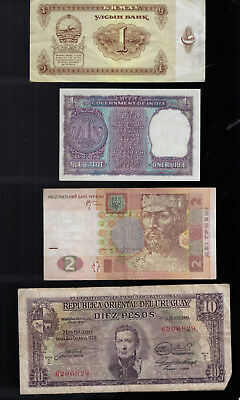 Collection Of 50 Banknotes From 26 Different Countries