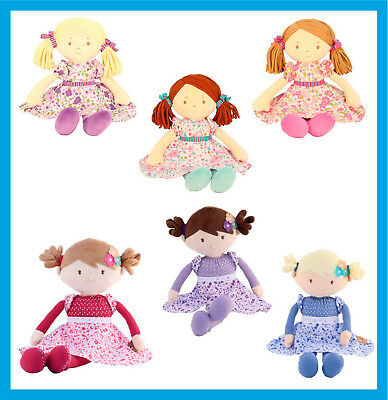 Personalised 40cm / 45cm Rag Dolls by IMAJO Any Name Embroidered Gifts