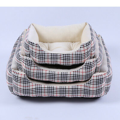 Soft  Dog Pet Warm Basket Bed Cushion with Fleece Lining cat